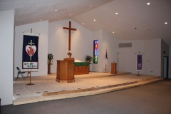 First Church Service in New Sanctuary